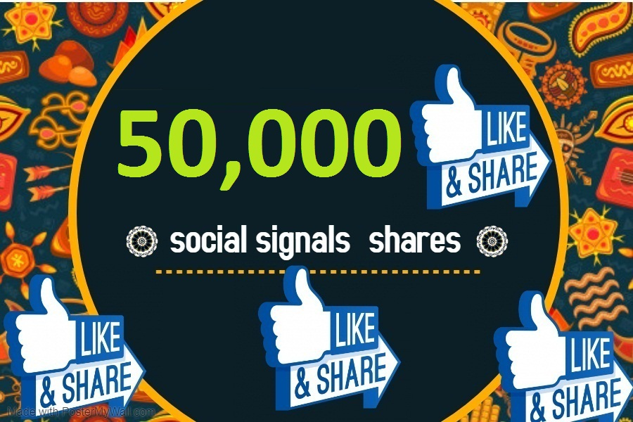 50,000 TOP social media Social Signals share Mix to boost visibility in Social Networks