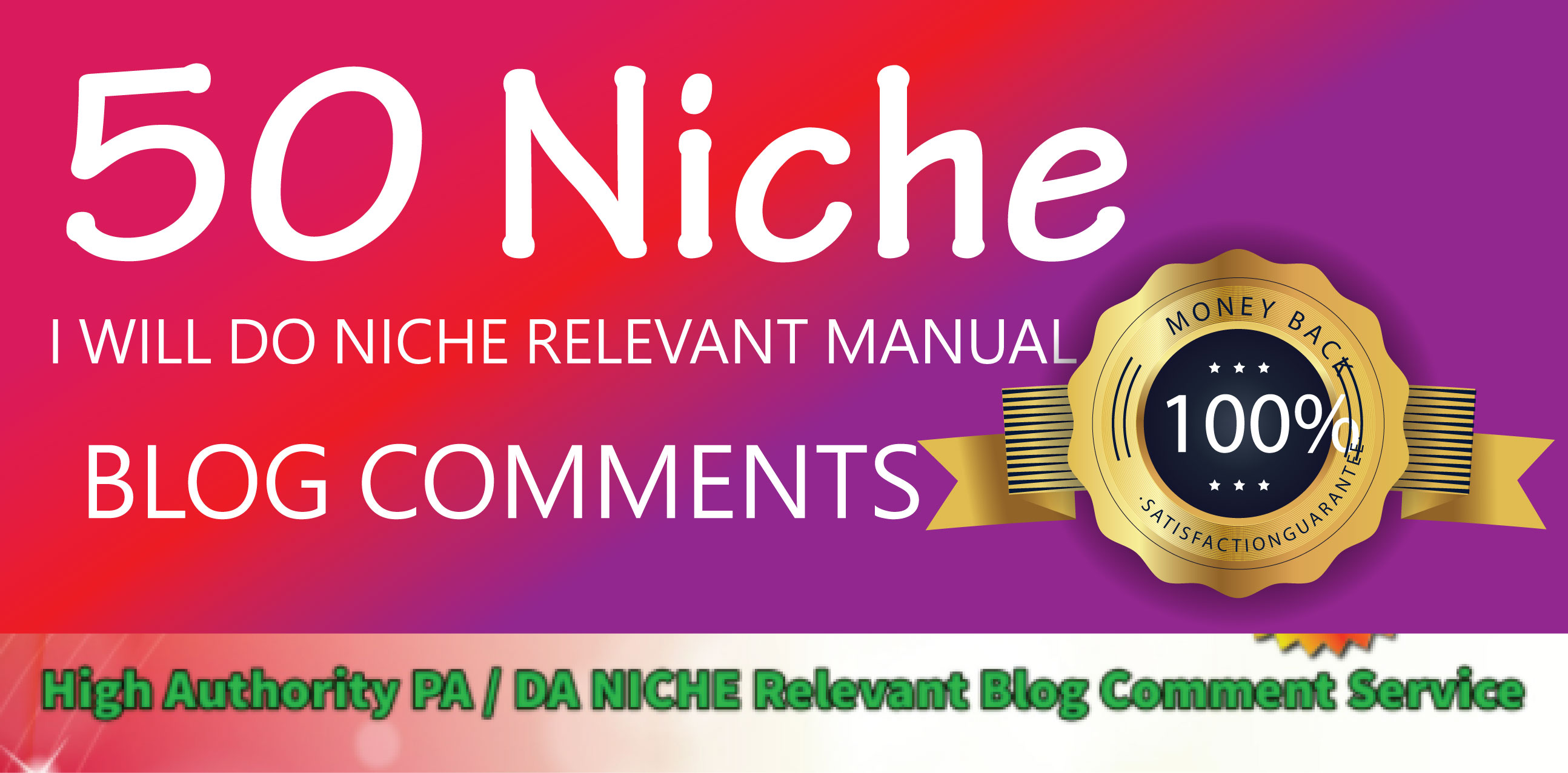 Provide 50 Niche Relevant Blog Comments Backlinks on High DA Blog