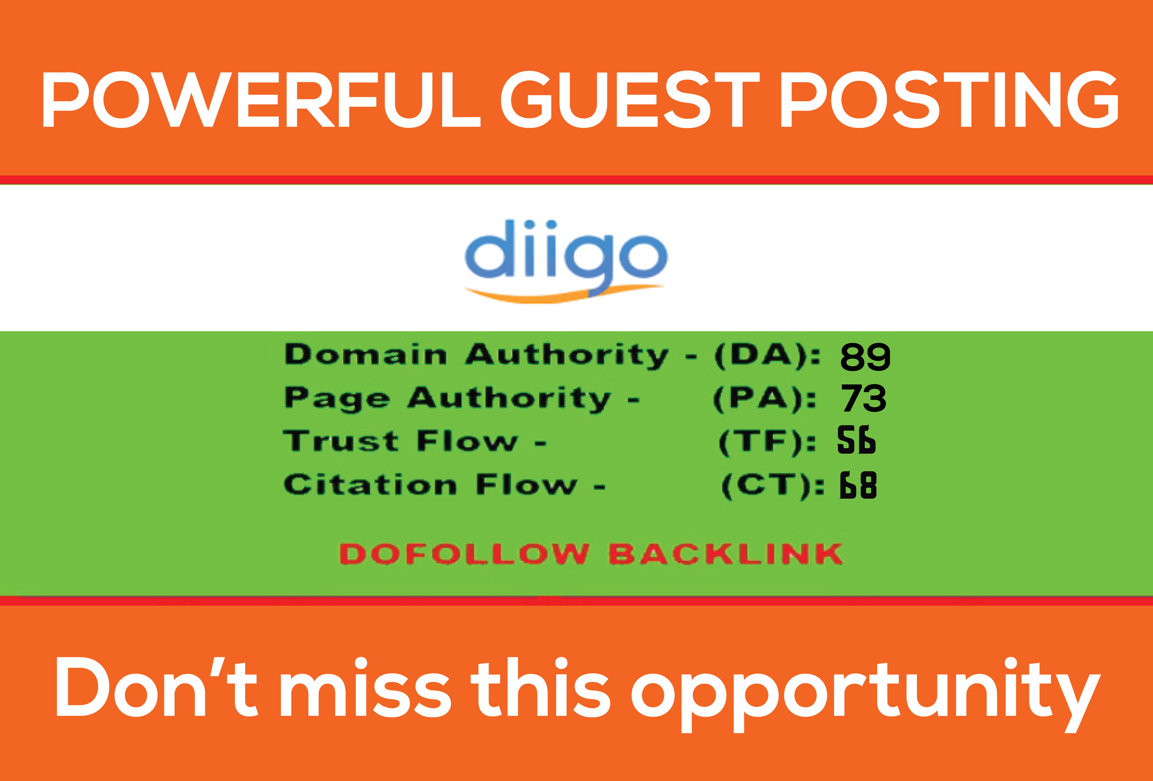 Write and publish guest post on DIIGO with permanent Dof0llow backlink DA89 PA73
