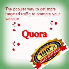 Promote your website by20 HQ Quora answers and powerful backlinks