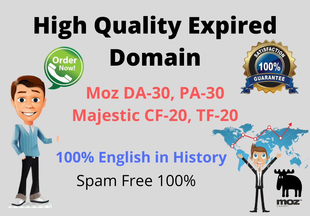 Get You 5 High Quality Expired Domain For Your Niche.