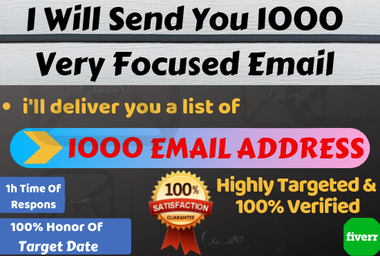 I will create your targeted audience 1000 email list for email marketing