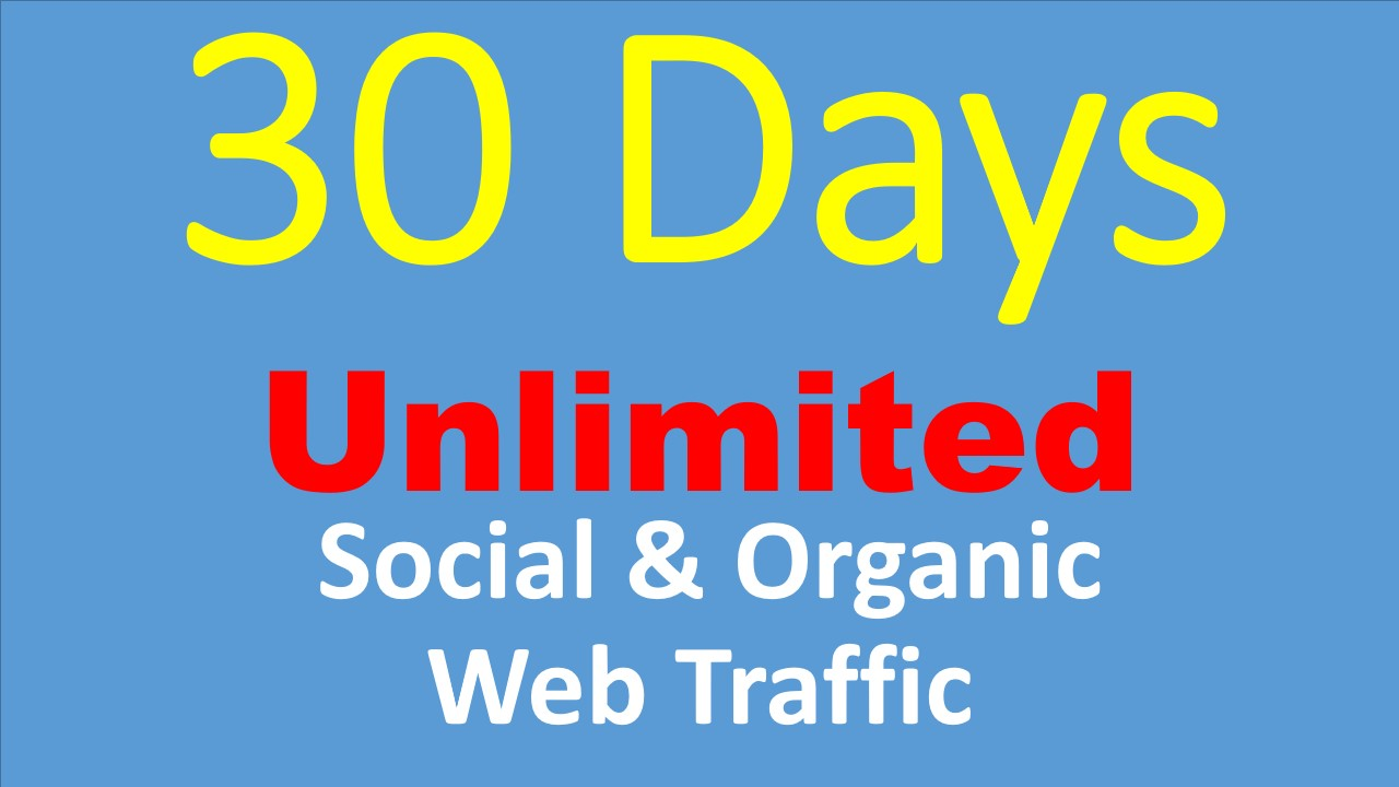 UNLIMITED Web Traffic Social and Organic