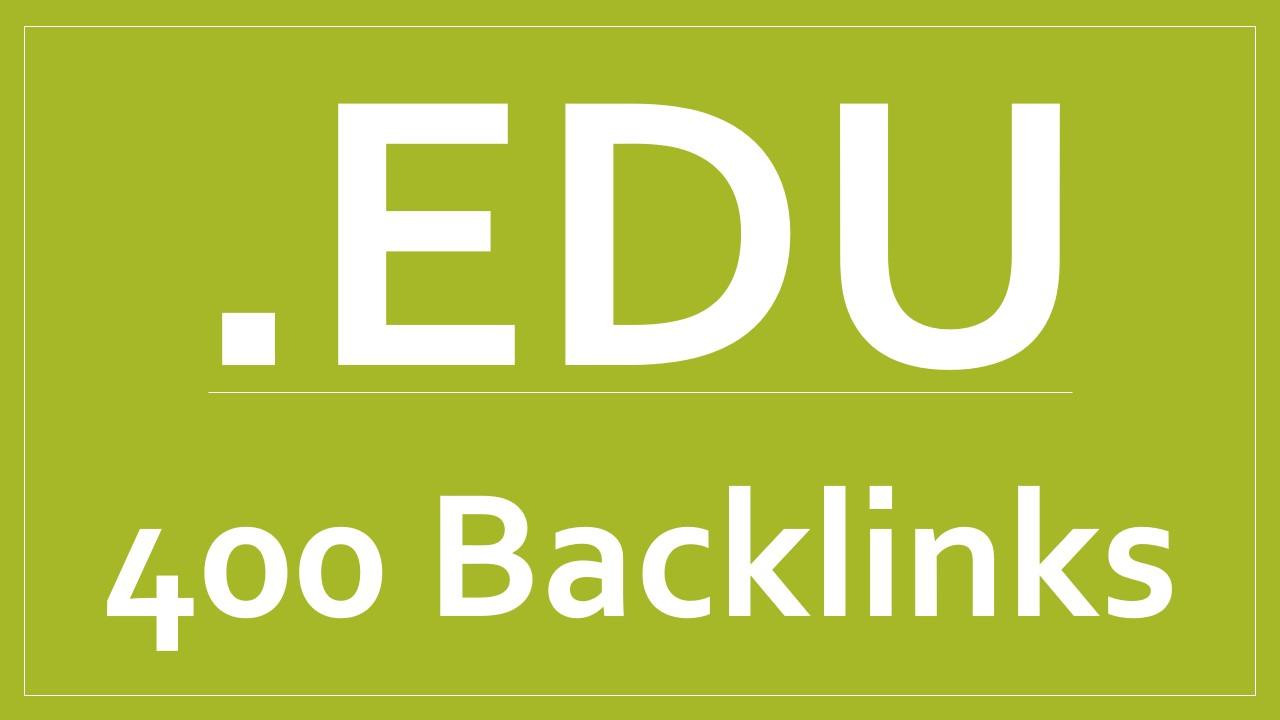 400 .EDU backlinks high quality high authority