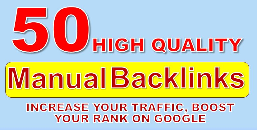 Built Manual 50 DA 90 High Quality Backlinks