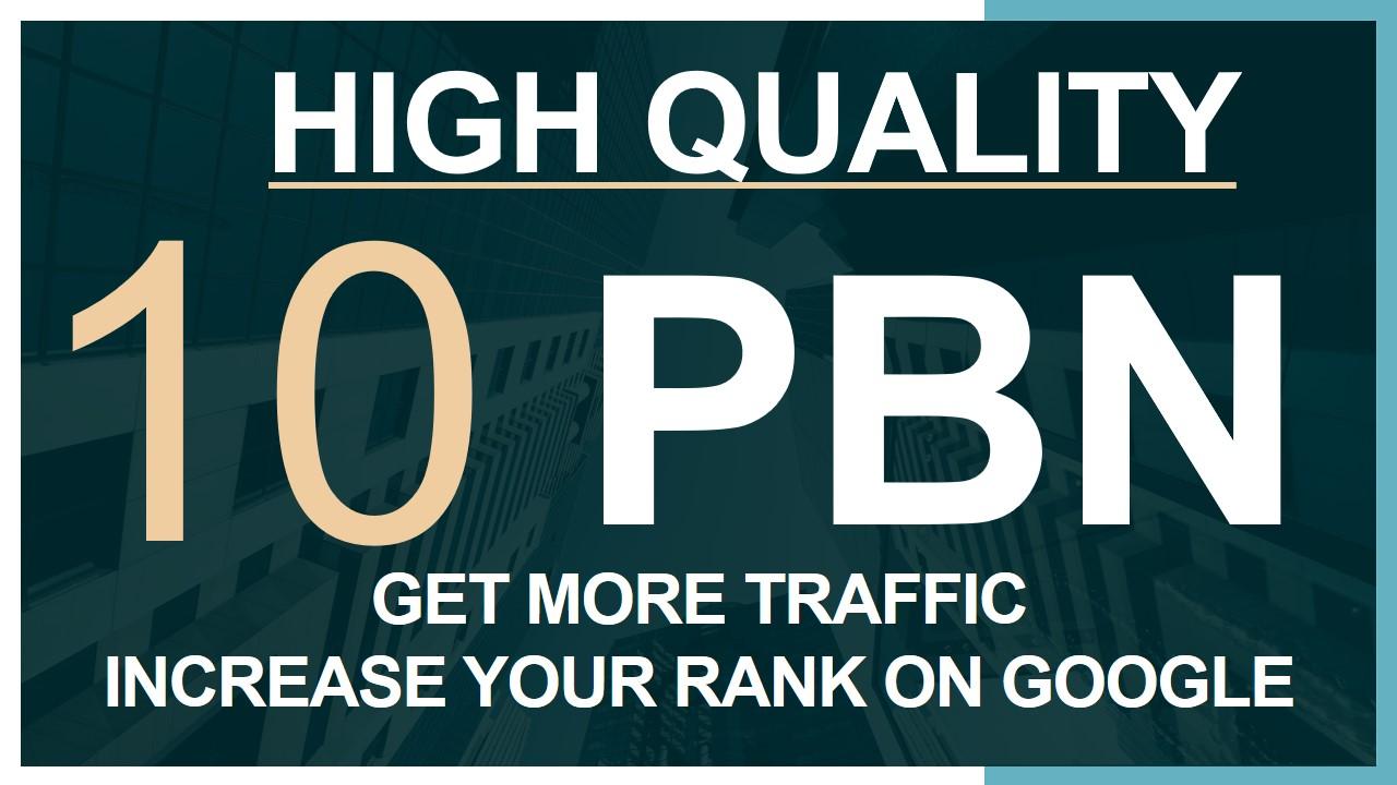 Build 10 Home Page PBN High DA PA TF CF