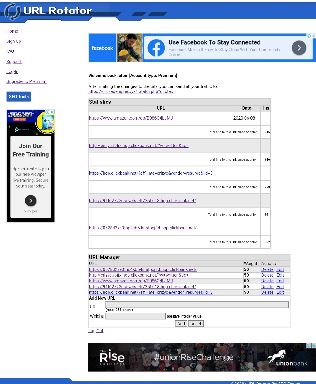 Promote Unlimited Websites At Once With Premium URL Rotator Account
