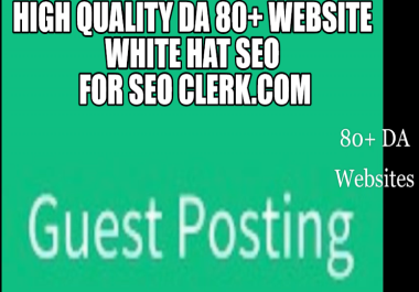 For Ranking your website I will write & publish 6 Guest Post on DA81+website