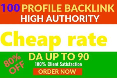 I will do high Do 80+ profile creation back links for your website