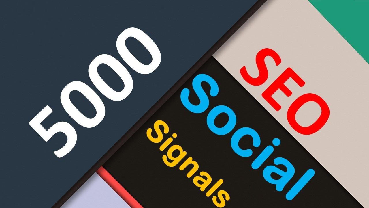 5000 SEO Social Signals PR9 /10 WEB Share No 1 Social Media