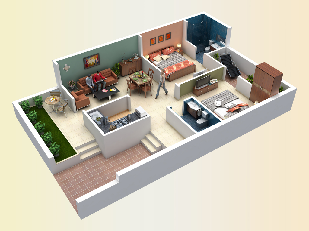 I can make Building 2D & 3D House Design