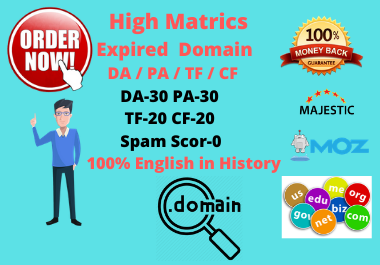5 High quality expired domain Research for your favorite Niche