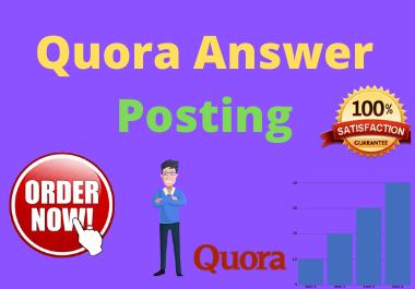 10 High Quality Quora Answer With your Keyword & URL for