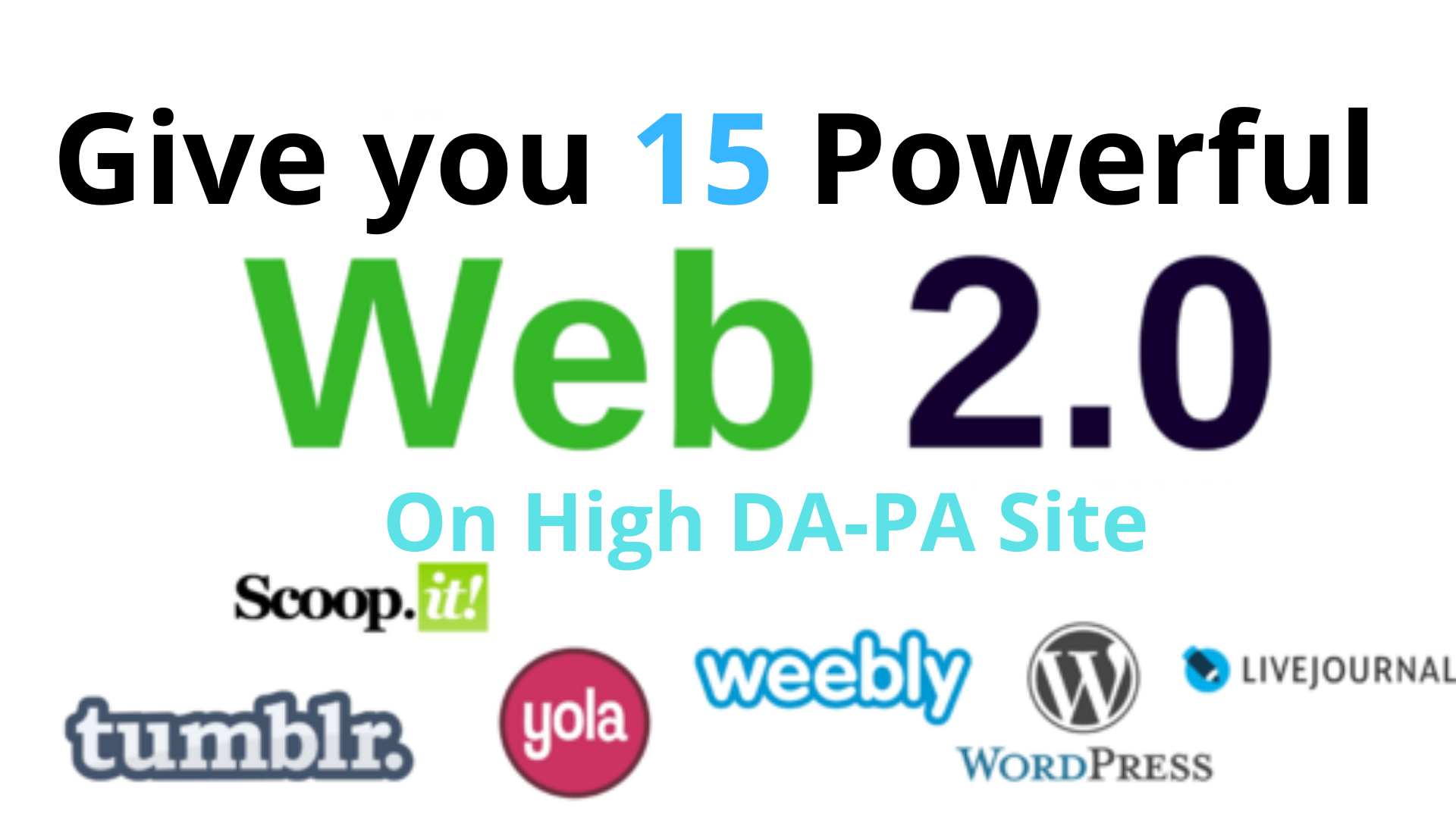 Give you 15 WEB2.0 to boost your Search Engine Rank