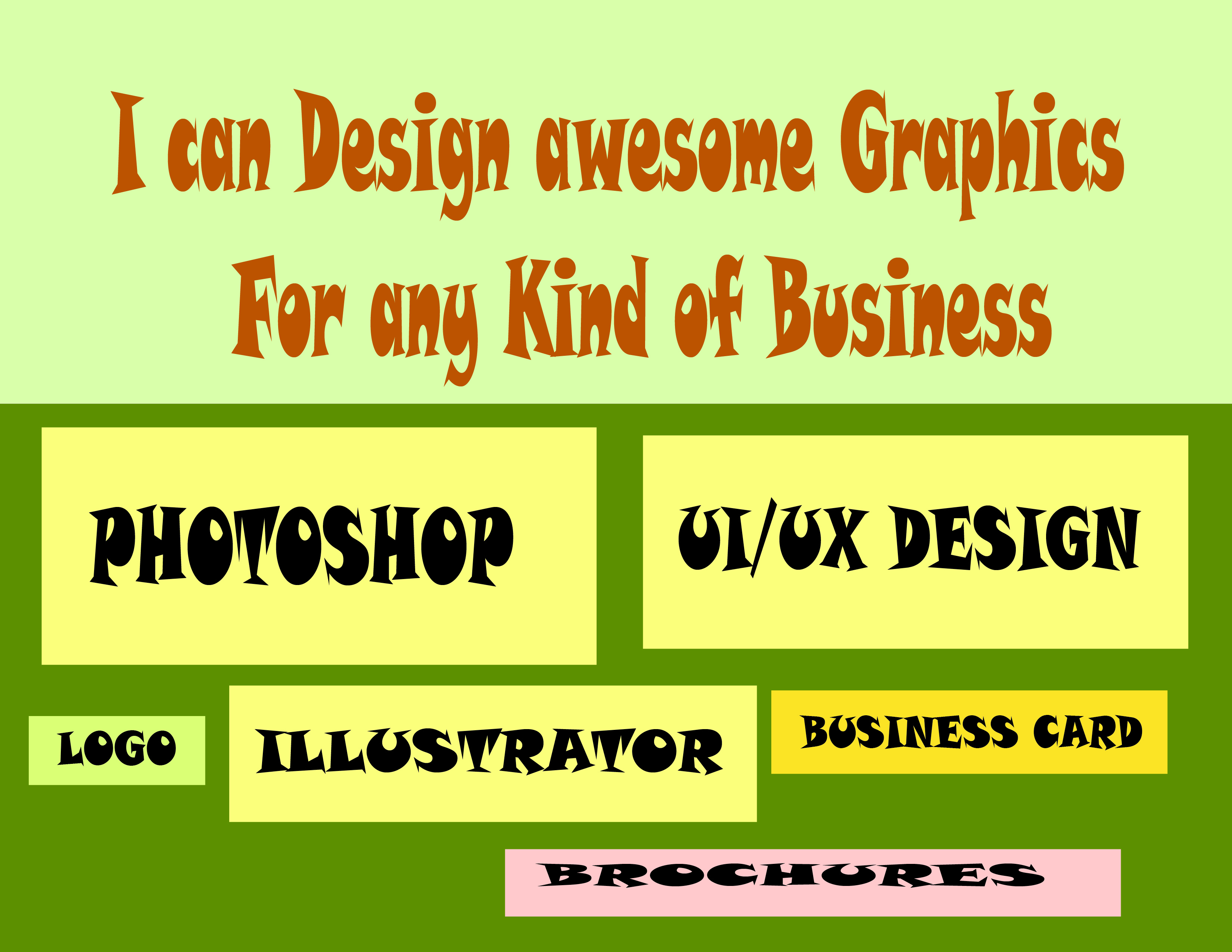 I can Design and Make SEO services for your Business.