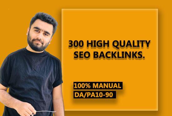 I will create 300 high quality seo backlinks