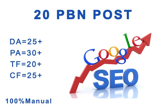 I will create 20 high quality permanent pbn seo backlinks