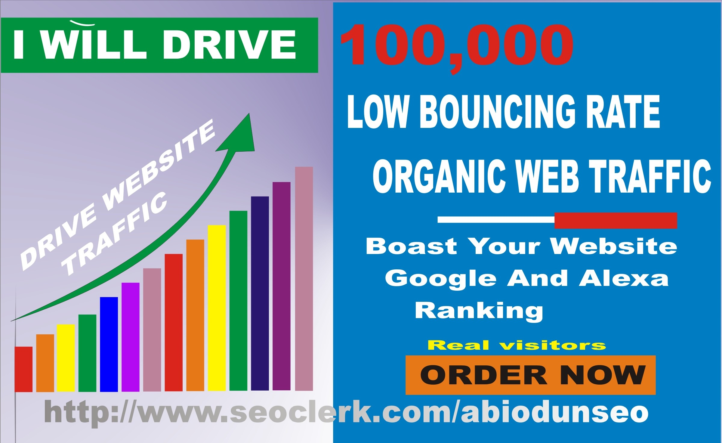 10k Safe Targeted organic web traffic to your website