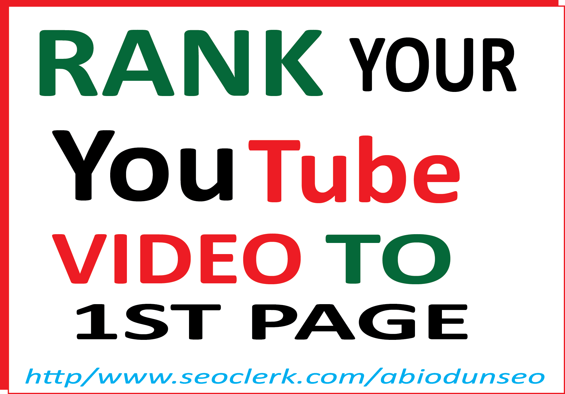 YOUTUBE SEO RANKING - RANK YOUR VIDEO TO YOUTUBE 1st page
