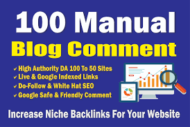 I will create 10 manual niche targeted blog comments from High DA Websites