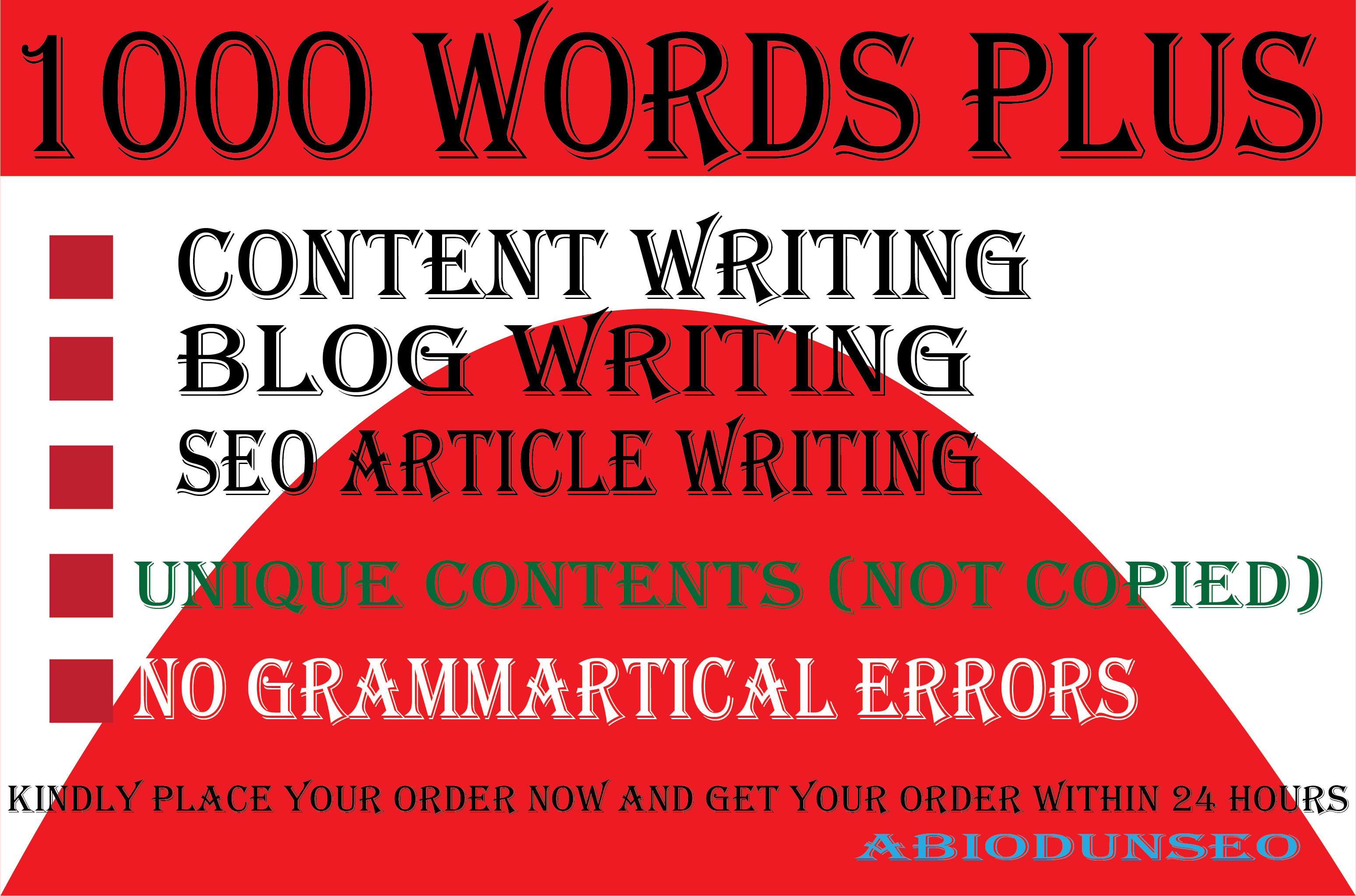1000 well researched SEO website contents, blog posts, affiliate contents and articles writing