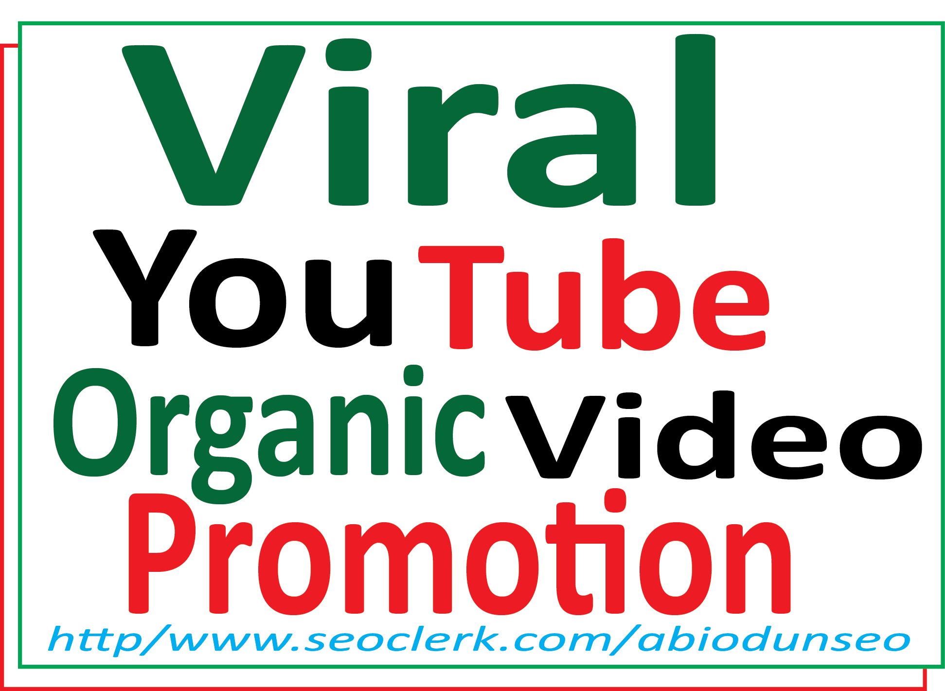 High quality Safe organic YouTube video Organic promotion package