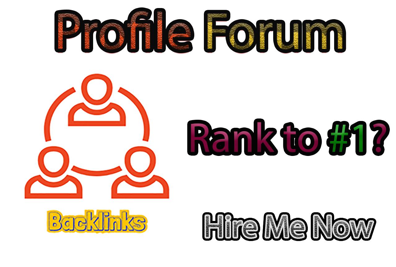 35 Forum Profile Backlinks with login details