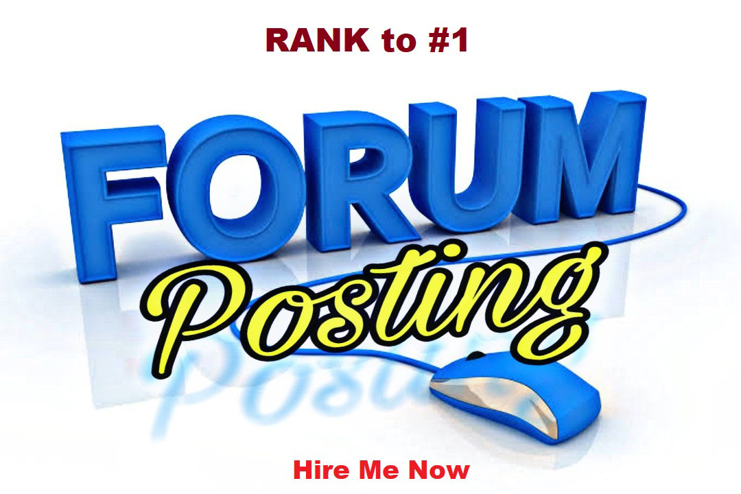 I can do 25 forum posting backlinks