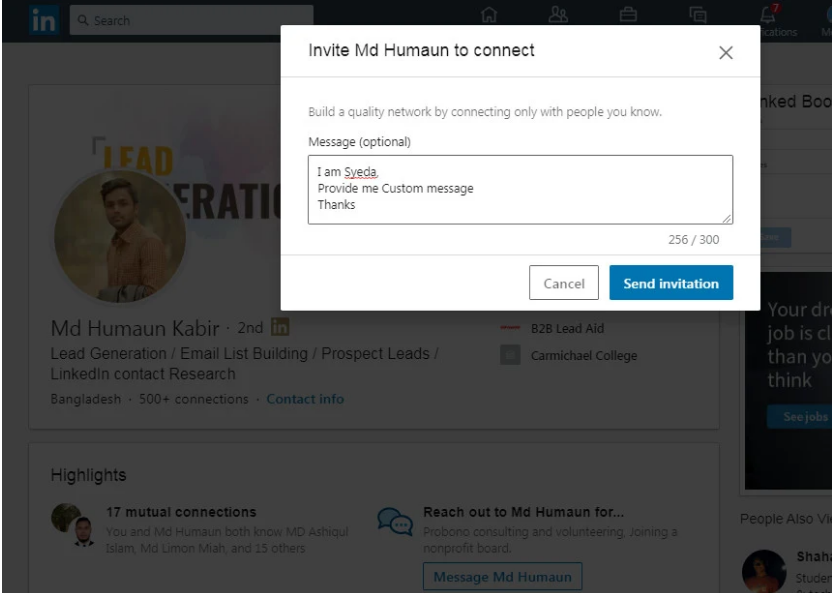 Manually grow your LinkedIn network with quality connections