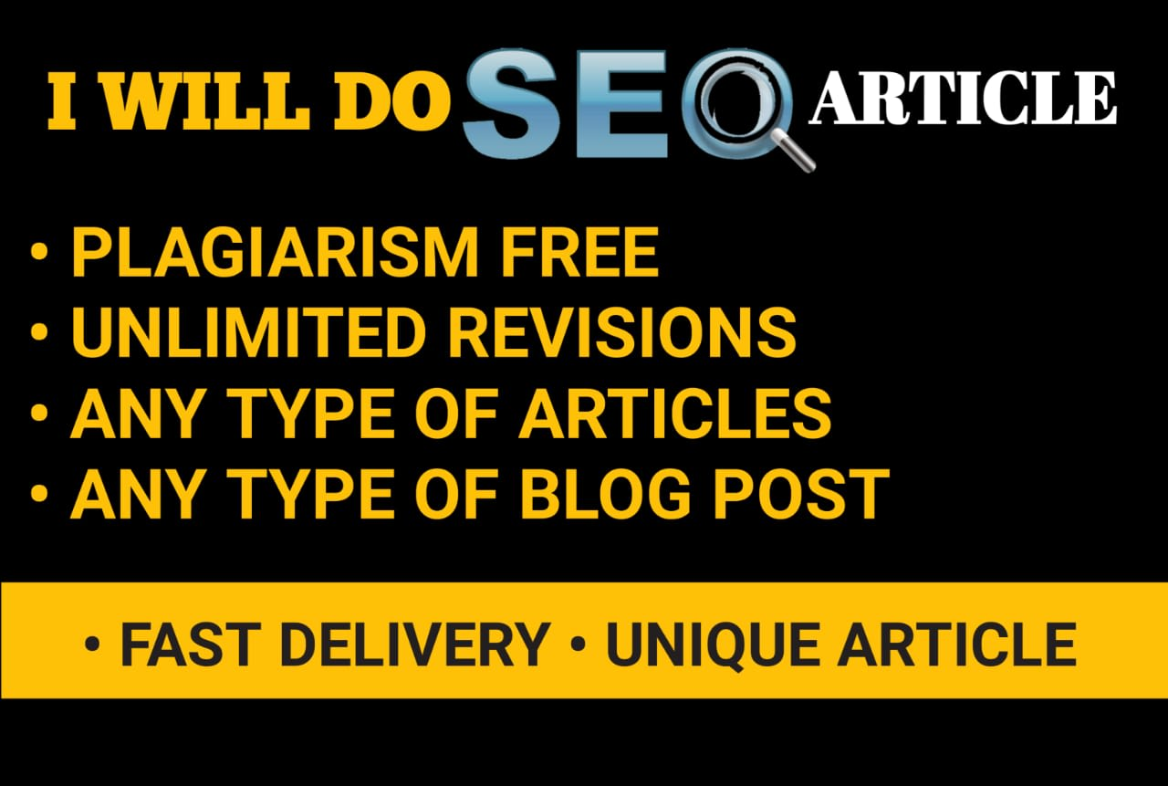 I will do SEO article writing and content writing