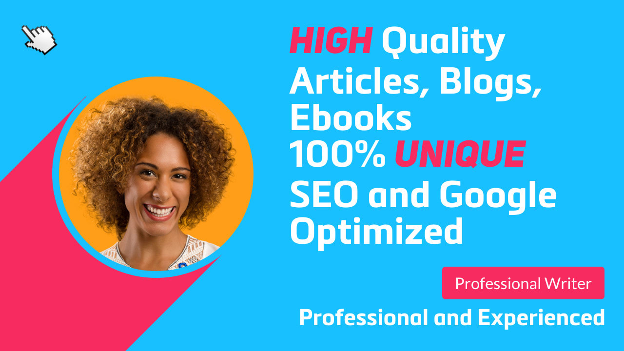 I will write engaging SEO articles,  website content and blog posts for you
