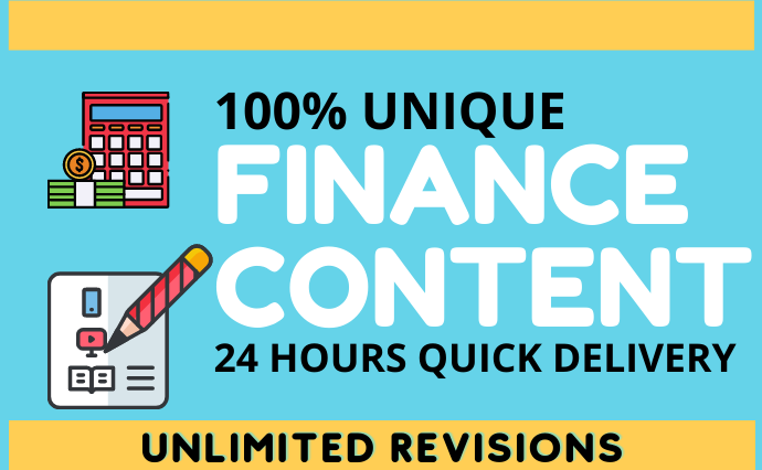 I will write 500 words article on accounting and do SEO content writing