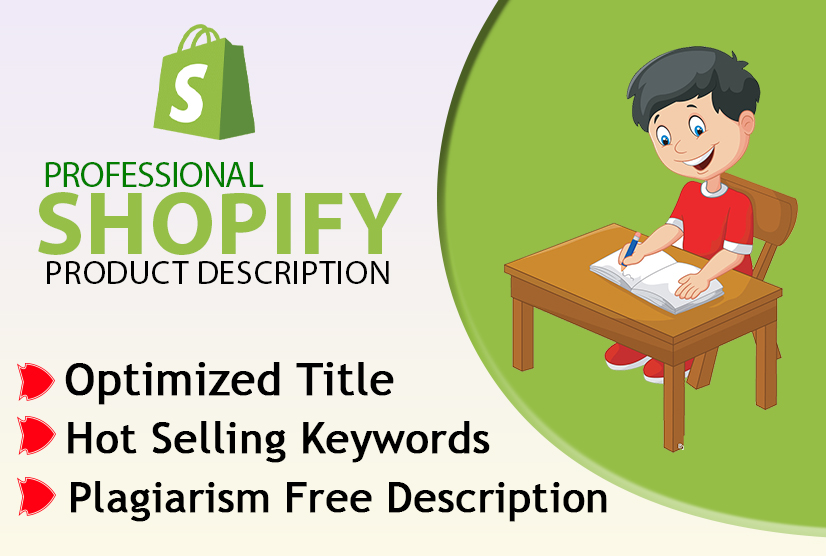 I will write 50 shopify product description,  SEO title,  and related tags