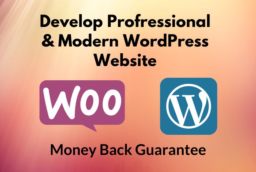 I will develop a gorgeous modern wordpress website or blog for you