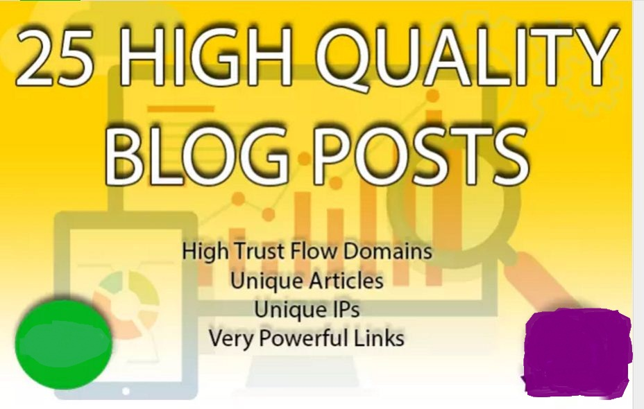 Post 25 PBN blog posts on my high trust flow pbn in 24 hours