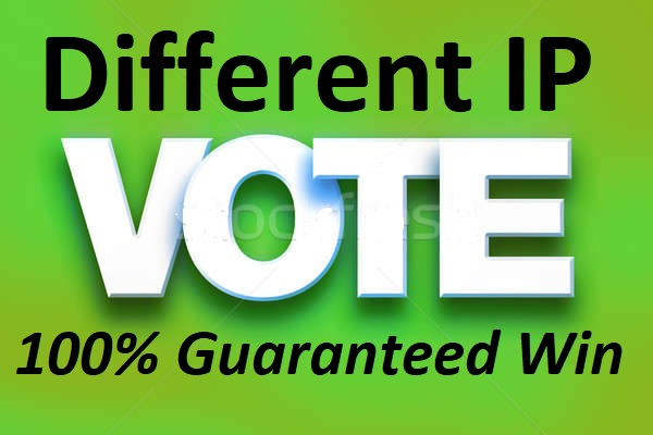 Fast 1,000 Different IP & targeted country IP Votes