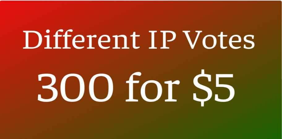 Provide 300 different IP Votes in your online voting contest