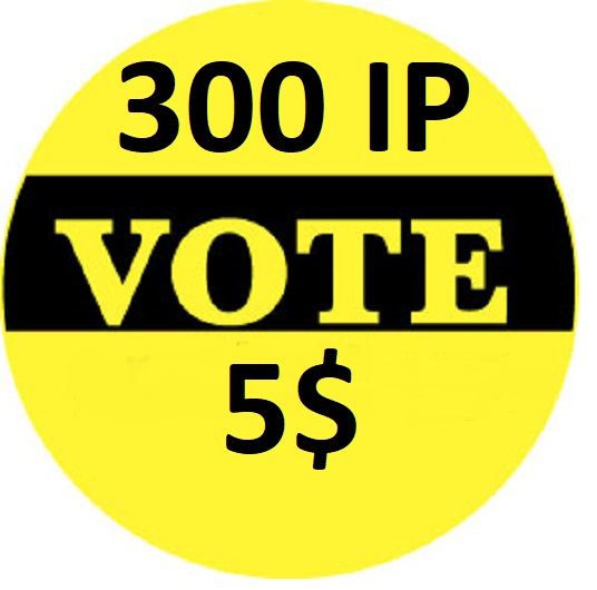 Get 300 Different IP votes on your online contest