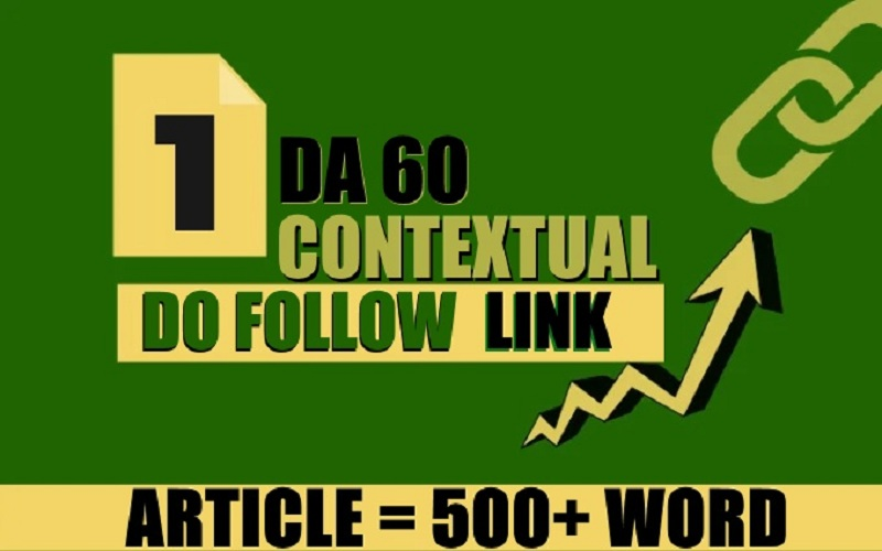 I will give contextual do follow link from da 60 site