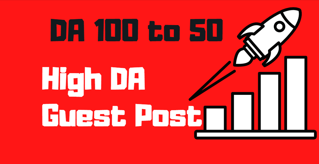 Write & Publish 5 guest posts backlinks on DA 100 to 50 Websites