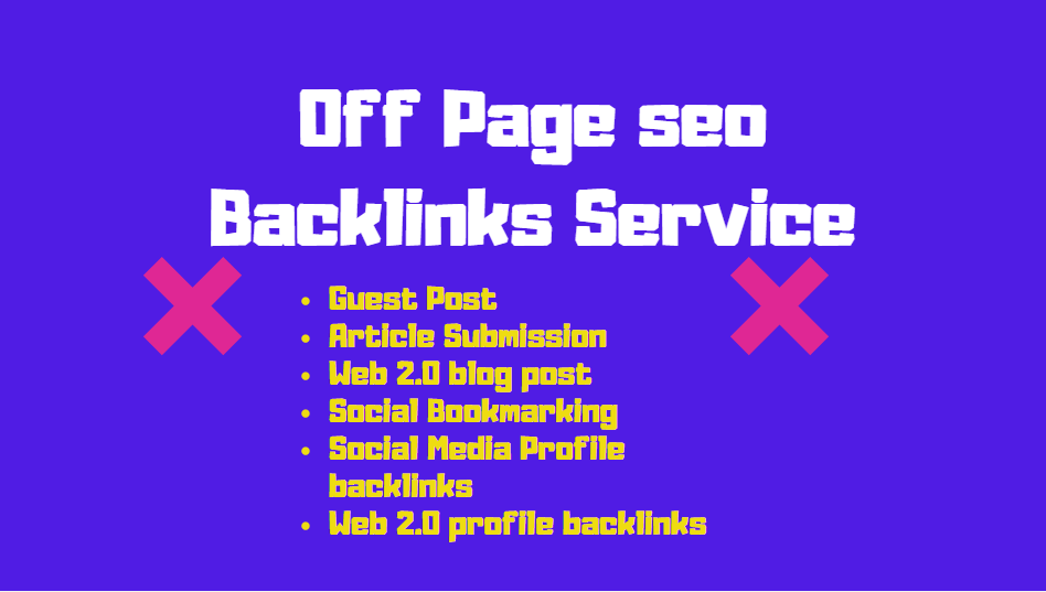 I will give off page seo Link building service to rank your website