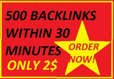 I will do 500 directory backlinks