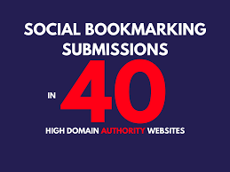 I will provide 40 social bookmarking backlinks