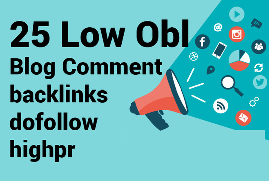 I will do 25 dofollow low obl blog comment