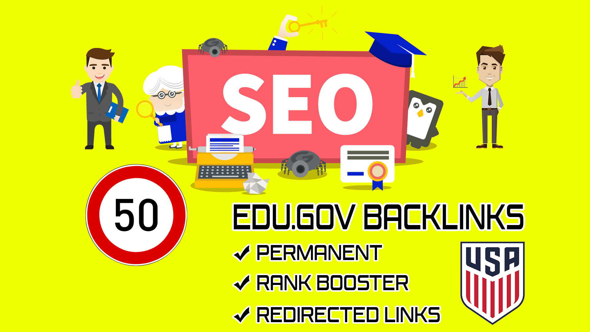 Provide manual high DA google authority edu gov backlinks