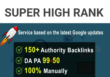 Manually 150 High Authority Profile Backlinks from DA-99 PA-50 Sites Skyrocket your Google Ranking