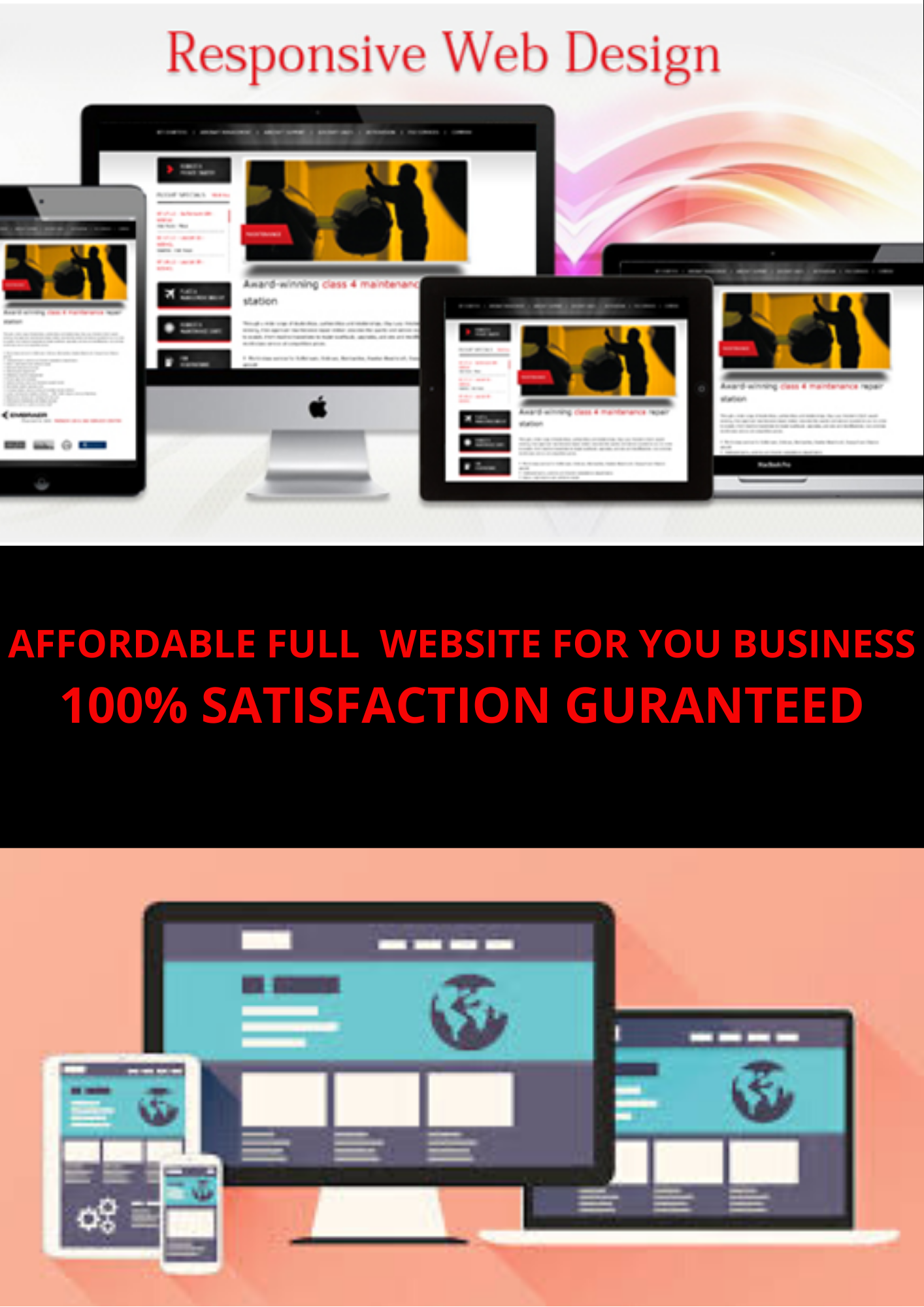 I will create a website that attracts more customers for business