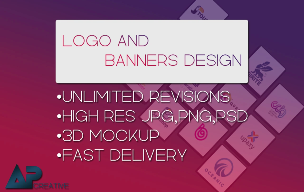 i will design amazing logo or banner for you