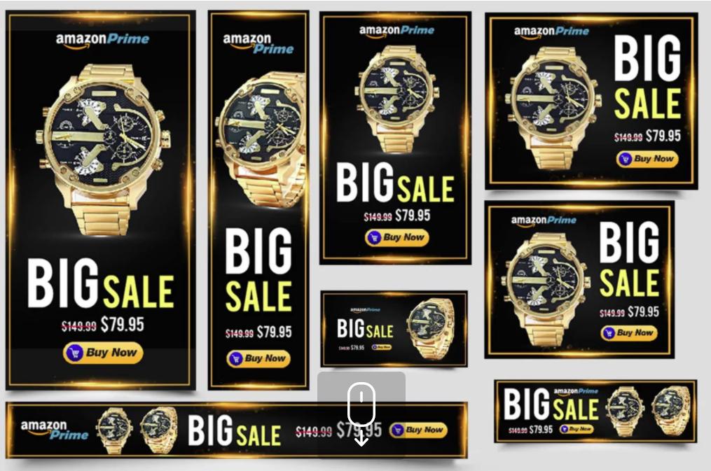 i will design banner ads google ads,  website affilliate