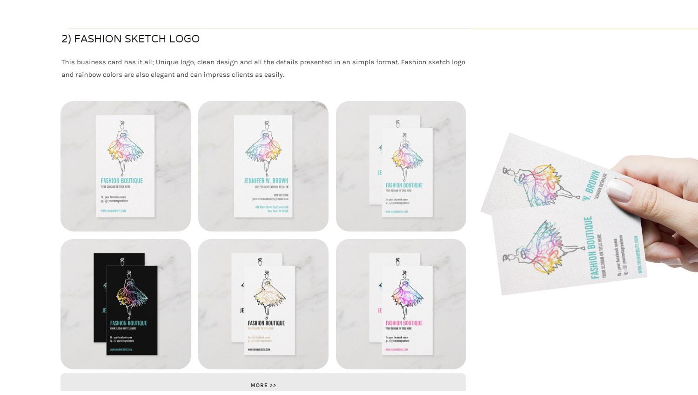 Custom Business Card Design Feminine Fashion Makeup Jewelry Consultant
